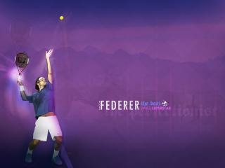 обои Подача Федерера фото