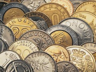 обои Грядки из жёлтых и поблекших монет фото