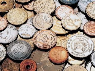 обои Разномастная горка медных монет фото