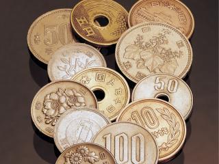 обои Красивые китайские монеты с отверстием и без фото