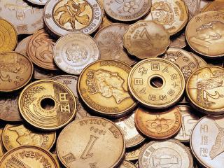 обои Монеты австралийского и китайского происхождения фото