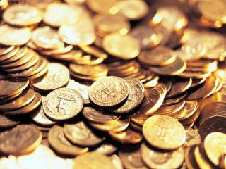 обои Жёлтые блеск монетной коллекции фото