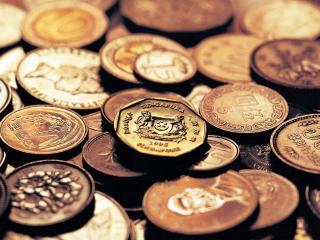 обои Монеты разлеглись друг на друге фото