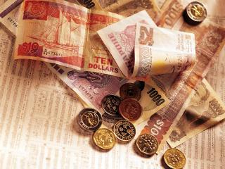 обои Монеты и денежные купюры Сингапура фото