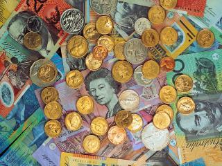 обои Австралийские банкноты и монеты фото