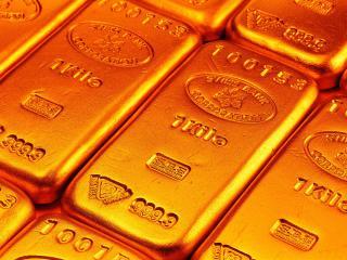 обои Шикарные, золотые слитки 999.9 кило фото