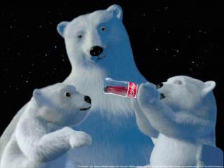 обои Мишки с Кока - Колой фото