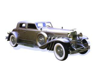 обои 1933 Duesenberg model sj Arlington torpedo sedan twenty grand silver фото