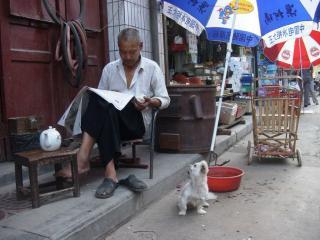 обои Мужчина читает газету фото