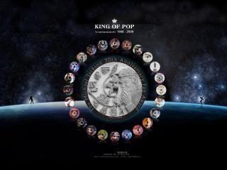 обои Звёздная дискография великого Майкла Джексона фото