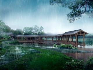 обои Дождик в Китае. Творчество китайских мастеров фотошопа фото