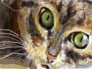 """обои """"Домашний хищник"""" невиртуальный рисунок красками фото"""