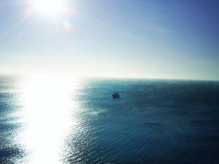обои Зимний вечер - Чёрное море в Анапе фото