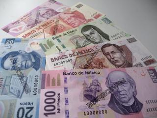 обои Image of Mexican banknotes фото