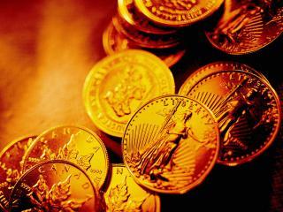 обои Золотые монеты канады фото