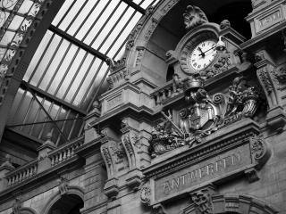 обои Вокзальные часы фото
