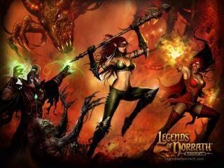 обои Legends Of Norrath battle фото