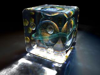 обои Куб с планетами фото
