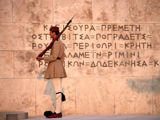 обои Monument of the Unknown Soldier in Athens фото