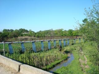 обои для рабочего стола: Мост в селе