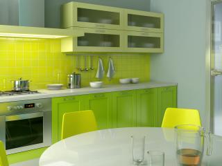 """обои Кухня в стиле """"лимон"""" фото"""