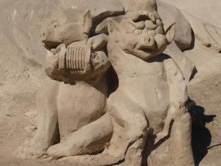 обои Песочные звери фото