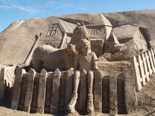 обои Песочная скульптура фото