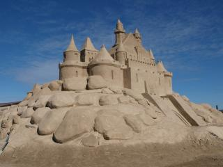 обои Песочный замок фото