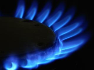 обои Голубой огонь от газовой плитки фото