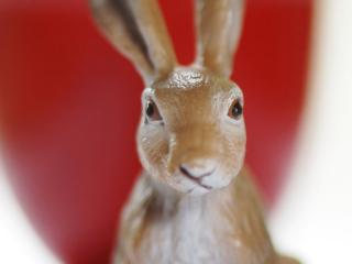 обои Фигурка культового кролика праздника Пасхи фото