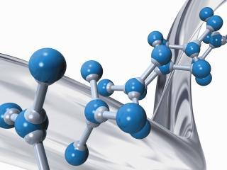 обои Соединения молекул несутся вдоль хромированной дуги фото