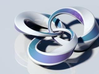 обои Скрученные кольца пластилина 3D фото