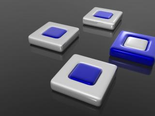 обои Белые квадратики и один синий фото
