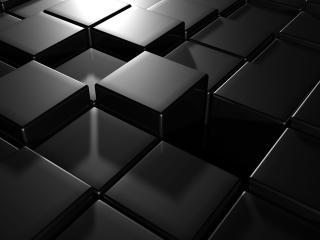 обои Движущийся пол из чёрной плитки фото