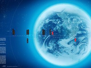 обои Карта сфер Земли и космоса фото