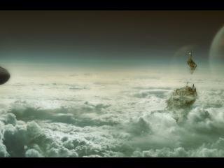 обои Новый мир высоко над облаками фото