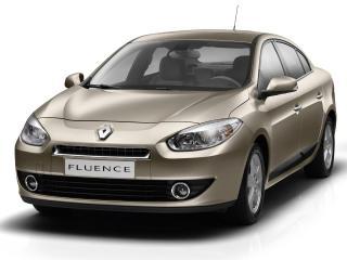"""обои Машина """"Fluence"""" на белом фоне фото"""