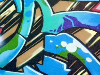 обои Ярко граффити на стене дома фото