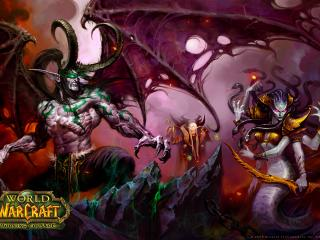 "обои Демоны Иллидан, Вайш и Каэлас Пустошей ""Warcraft III The Burning Crusade"" фото"