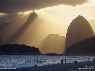 обои Залив Гуанабара в Рио-де-Жанейро фото