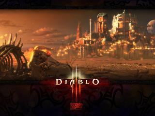 обои На подходах к сиящему граду Diablo фото