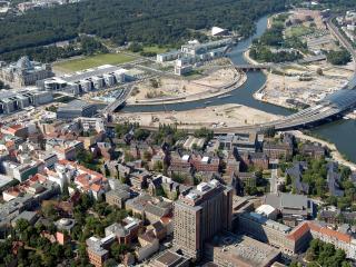 обои Кампус Шарите-Митте(центр) с высоты птичьего полета, Берлин,Германия фото