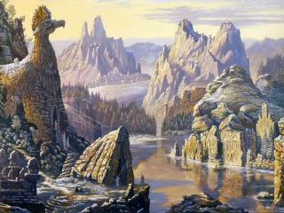 обои Священное озеро Сиверских гор фото