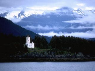 обои Маяк на Аляске фото