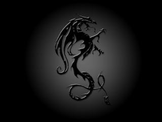 обои Проступающий сквозь тьму силуэт дракона фото