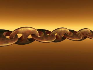 обои Новая, полимерная цепь из сплава золота и платины фото