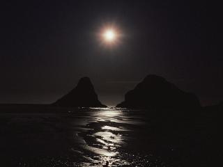 обои Ночное побережье фото