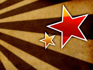 обои Багровые звёзды победы на георгиевской ленте фото