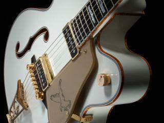 обои Белая гитара фото