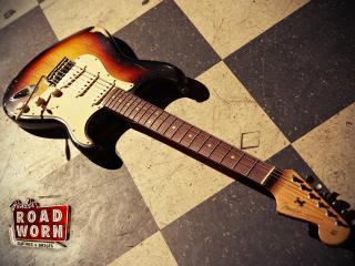 обои Гитара на полу фото